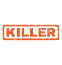 Killer Rubber Stamp vector image