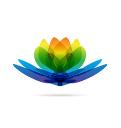 lotus multicolored logo vector image vector image
