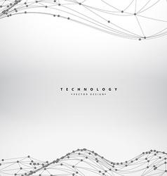 mesh flowing wave background design vector image