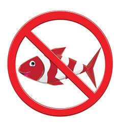 No Fishing Sign vector image vector image