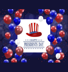 Presidents day greeting card stylized the hat vector
