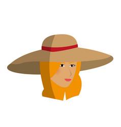 Pretty happy woman icon image vector