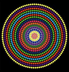 Psychedelic kaleidoscope circle vector image vector image