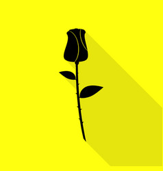 Rose sign black icon with flat style vector