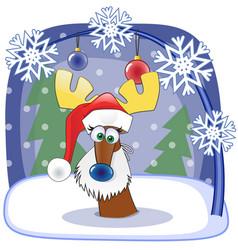 Santa deer vector