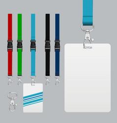 set of lanyard and badge vector image
