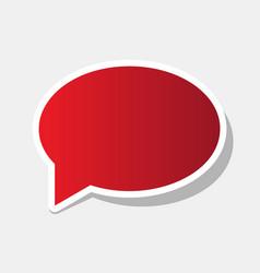 speech bubble icon new year reddish icon vector image vector image
