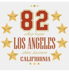 T-shirt los angeles sport team vector