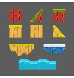 Textures for platformers set vector