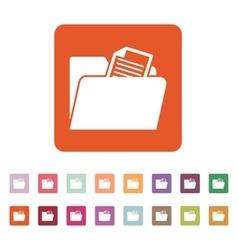 The folder icon File symbol Flat vector image vector image
