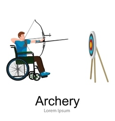 rio 2016 brazilian archery game for handicapped vector image