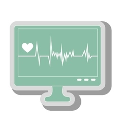 Waves cardiology machine icon vector