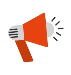 megaphone sound device icon vector image
