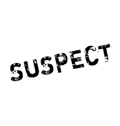 Suspect rubber stamp vector