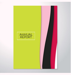 Modern abstract flyer annual report trend vector