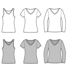 T shirts vector image