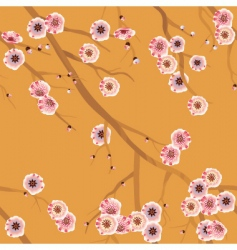 Cherry blossom pattern vector
