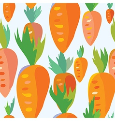 Carrot seamless funny pattern vector