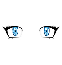 Anime style blue eyes vector