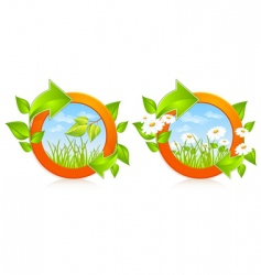 Nature circles vector
