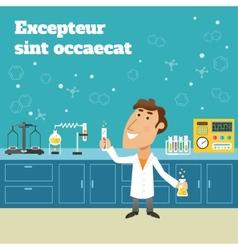 Scientist in lab vector