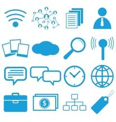 Webdesign flat symbols vector