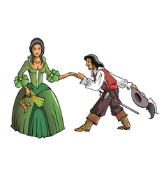 Musketeer and the Queen vector image