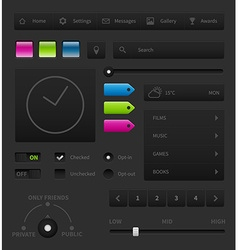 Dark user interface vector