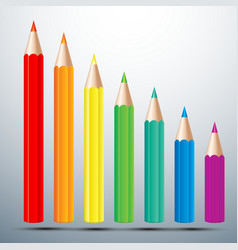Color pencil set vector