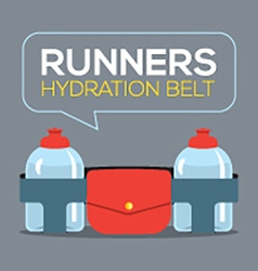Runners hydration belt vector