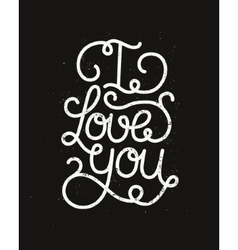 I love you romantic card vector