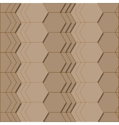 Abstract geometric pattern in brown colors vector