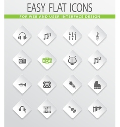 Music icons set vector