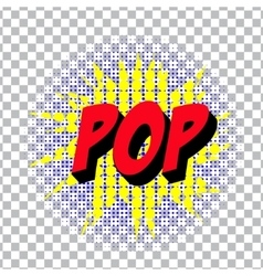 Retro cartoon explosion pop art comic poop symbol vector