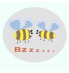 Delicate pattern bee vector