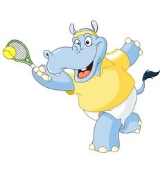 Tennis hippo vector
