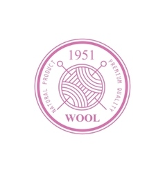 Wool pink product logo design vector