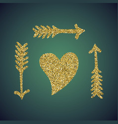 a brilliant jewelry gold glitter in the form of a vector image