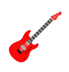 acoustic electric guitar icons isolated vector image vector image