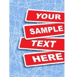 Banners with place for text vector image