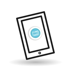 Buy online over white background mobile icon vector image