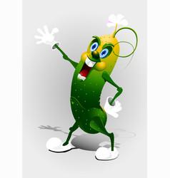 cartoon cucumber eps 10 vector image vector image
