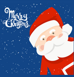 Cartoon for holiday theme with santa claus on vector