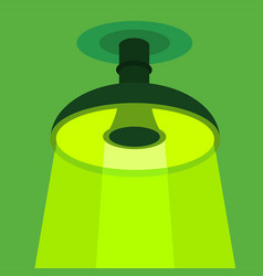 Ceiling lamp icon flat style vector