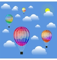 Colored air balloons vector
