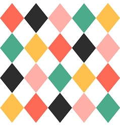 Colorful Chess Board Diamond Background vector image vector image