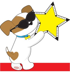 Cute Puppy Star vector image vector image