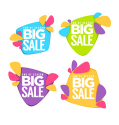 end of season big sale collection of bright vector image vector image