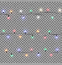 festive multi-colored garland vector image vector image