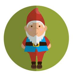 garden elf decorative icon vector image vector image